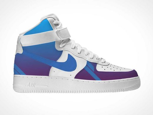 Nike Air Force High Sneakers PSD Mockup
