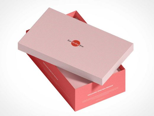 Shoe Box Packaging PSD Mockup