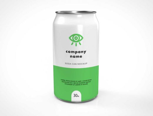 Softdrink Soda Can PSD Mockup