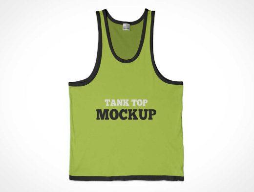 Sport Tank Top Shirt PSD Mockup