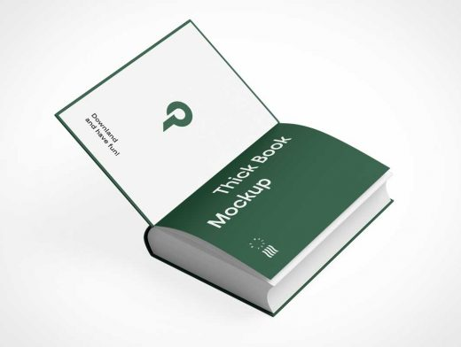 Thick Hardcover Journal Book PSD Mockup
