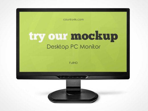 Workstation Monitor Display PSD Mockup