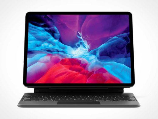 iPad Pro & Protective Cover Keyboard PSD Mockup