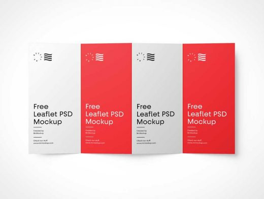 4-Fold Panel Brochure PSD Mockup