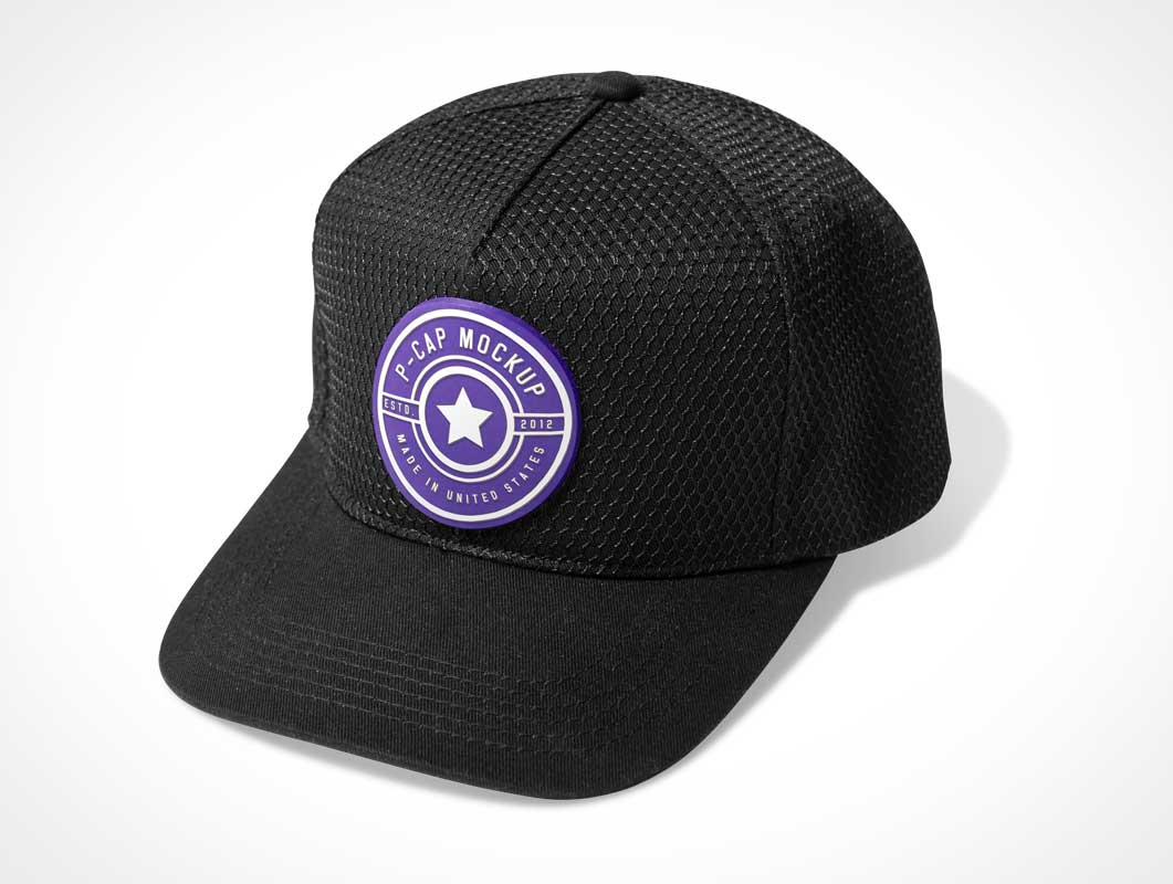 Baseball P-Cap Headwear PSD Mockup