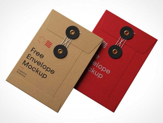 Brown Paper Manilla Envelope PSD Mockup