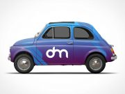 Classic Car Branding Wrap PSD Mockup