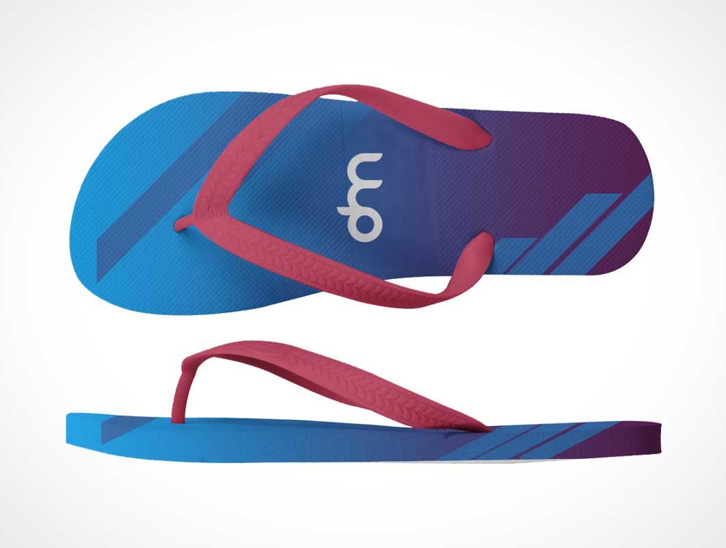 Flip-Flop Beach Sandals PSD Mockup