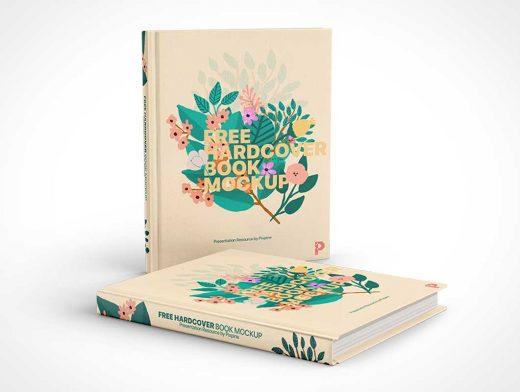 Hardcover Book Front & Spine PSD Mockup