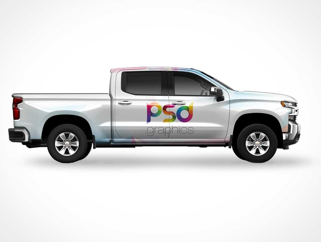 Pickup Truck PSD Mockup