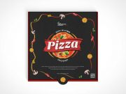 Pizza Box Packaging PSD Mockup