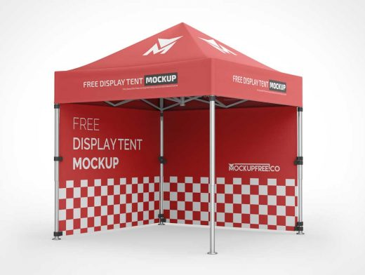 Trade Show Event Display Tent PSD Mockup