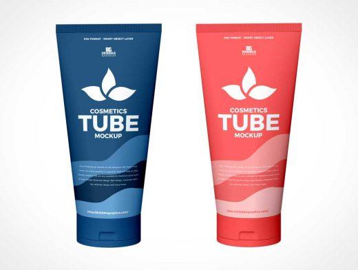 Cosmetics Squeeze Tube PSD Mockup