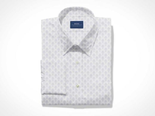 Folded Men's Dress Shirt PSD Mockup