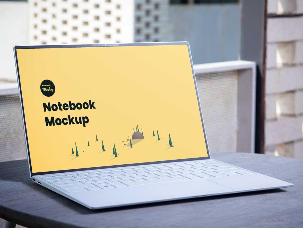 Laptop Portable Computer PSD Mockup
