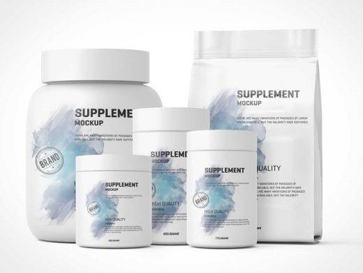 Nutrition & Protein Jar Supplements PSD Mockup