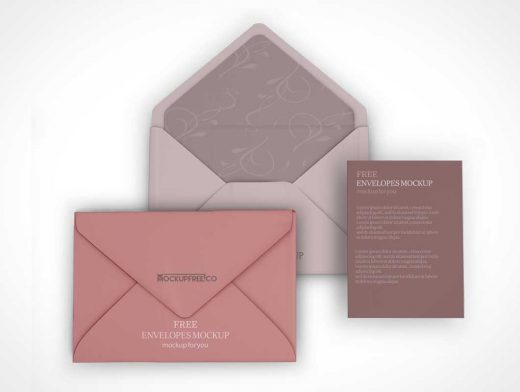 Closed & Open Envelope PSD Mockup