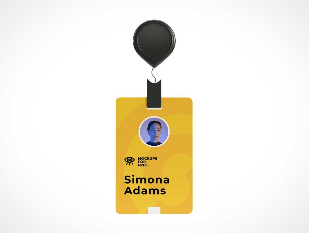 Company Employee ID Badge PSD Mockup
