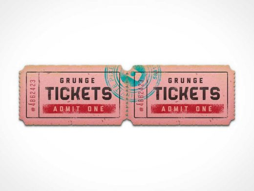 Event Coupon Ticket Stub PSD Mockup