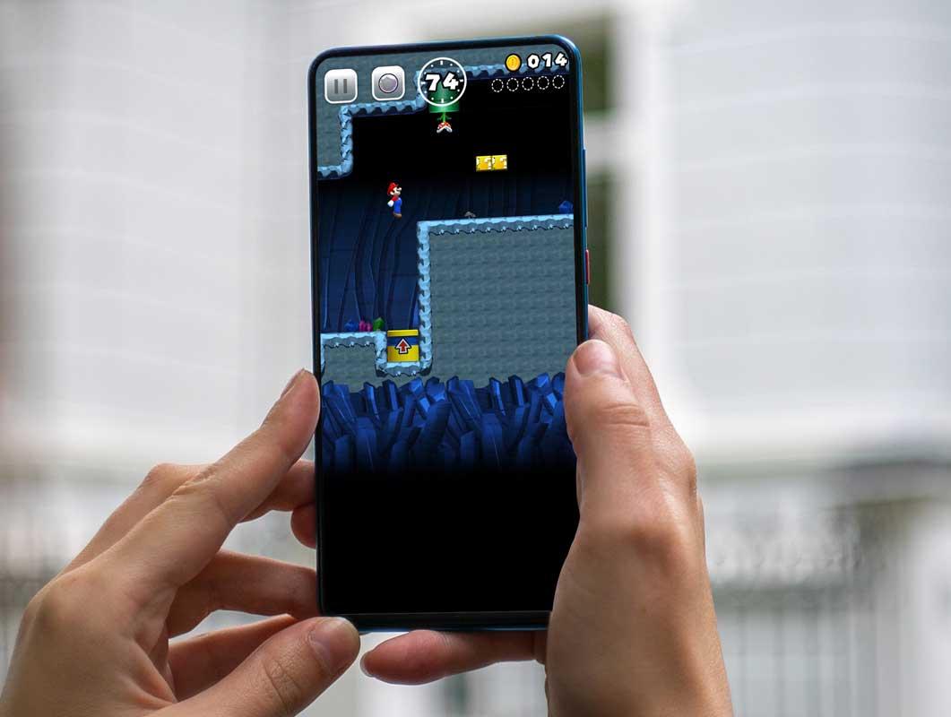 Handheld Android Smartphone PSD Mockup