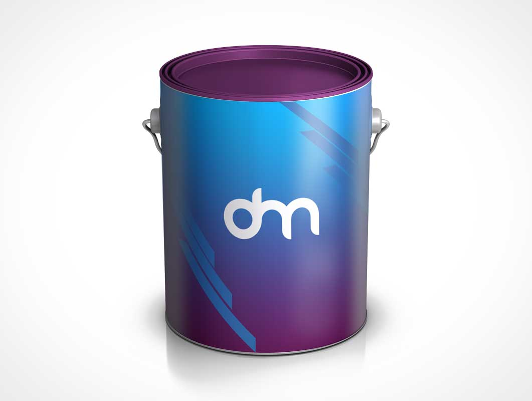Paint Bucket Pail PSD Mockup