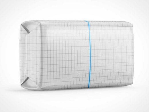 Soap Bar Wrap Packaging PSD Mockup