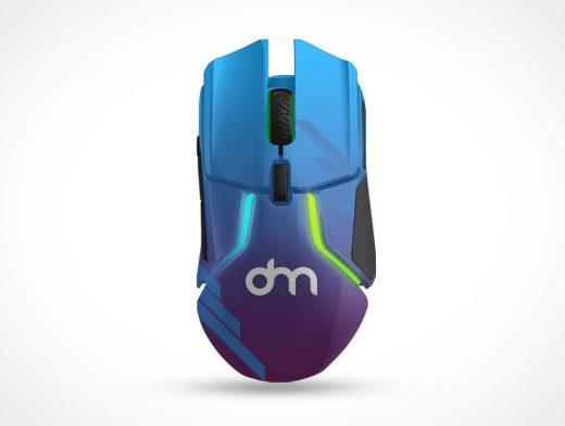 Computer Gaming Mouse PSD Mockup