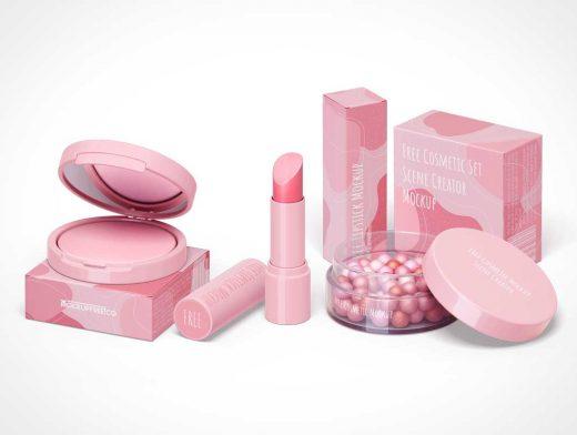 Cosmetic Makeup Kit Packaging PSD Mockup