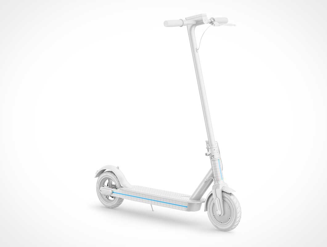 Electric Scooter PSD Mockup