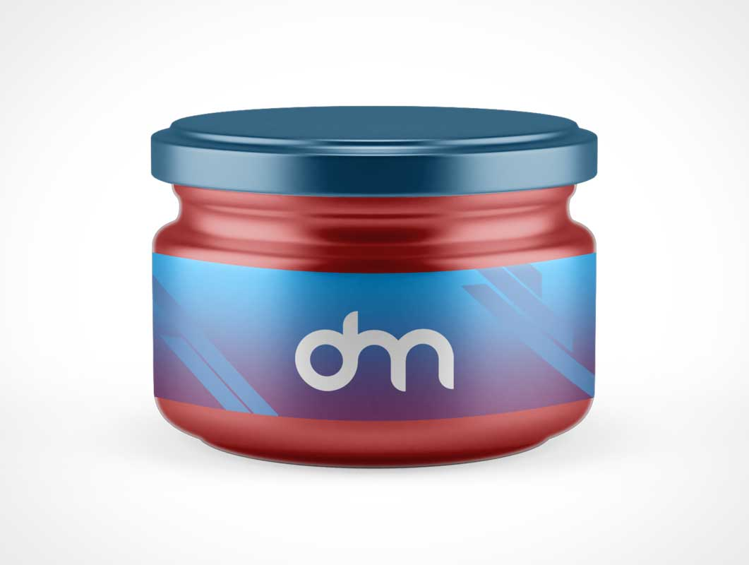 Glass Jar Container PSD Mockup