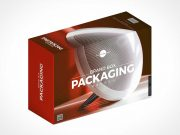 Isometric Box Brand Packaging PSD Mockup