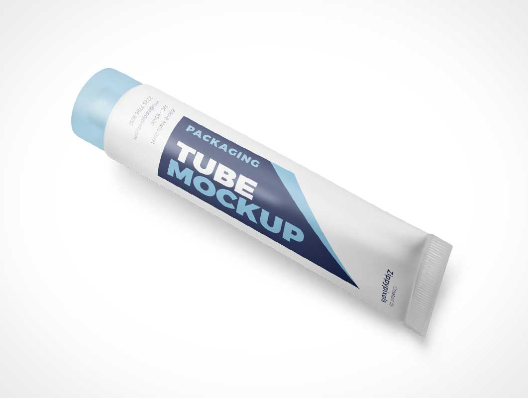 Squeeze Tube Packaging PSD Mockup