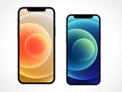 iPhone 12 Pro Max & Mini PSD Mockups