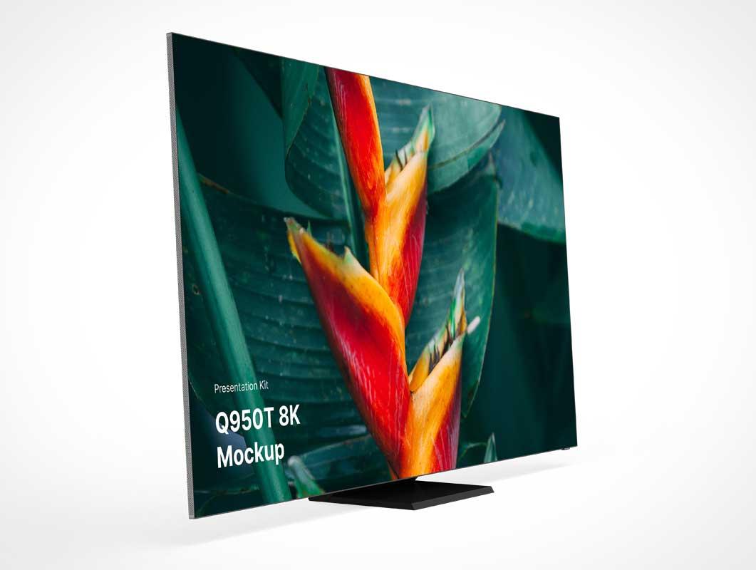4K Flatscreen Television Display PSD Mockup
