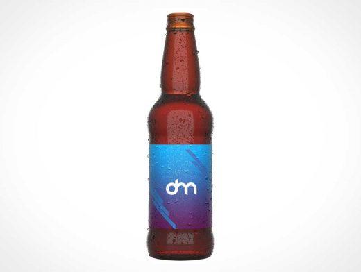Long Neck Glass Beer Bottle PSD Mockup