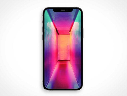 iPhone Pro 12 Front Facing PSD Mockup