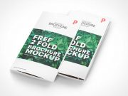2 Panel Folded Flyers PSD Mockup