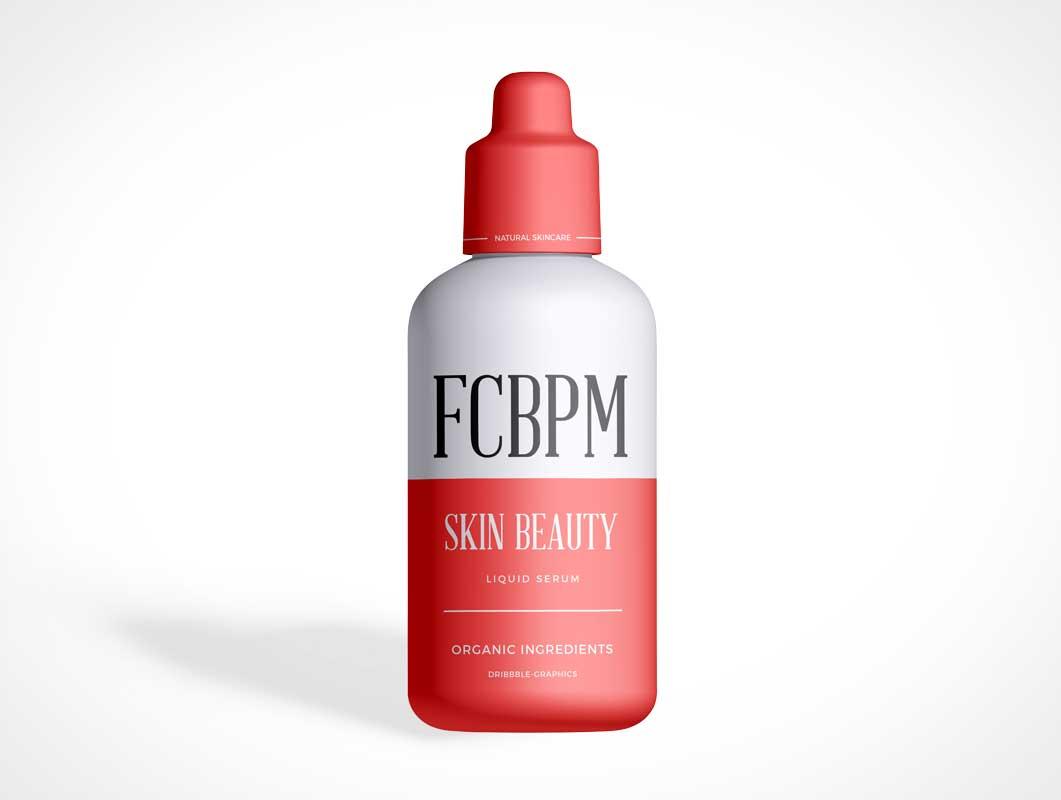 Cosmetic Beauty Packaging Bottle PSD Mockup