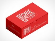 One-Piece Corrugated Shoe Box PSD Mockup