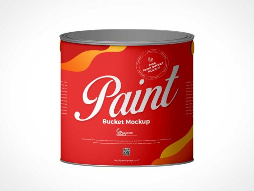 Paint Can Front PSD Mockup
