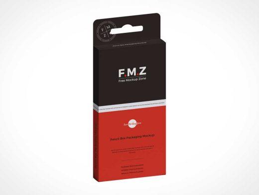 Pencil Box Packaging PSD Mockup