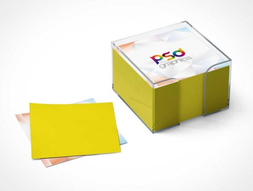 Post-it Notes Stationery Pad PSD Mockup