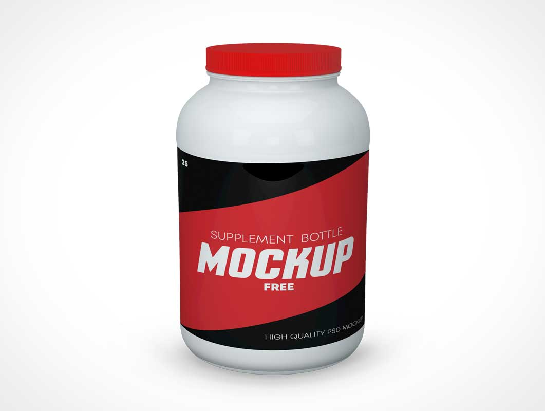Protein Supplement Canister PSD Mockup