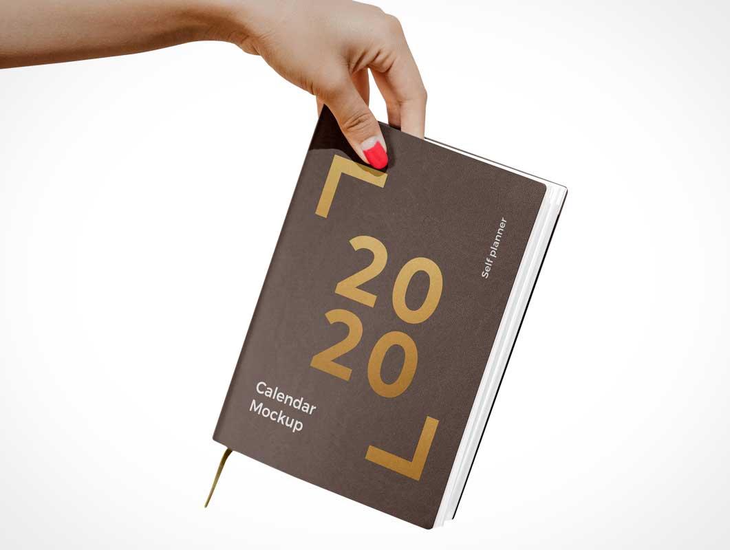Calendar Bound Agenda PSD Mockup