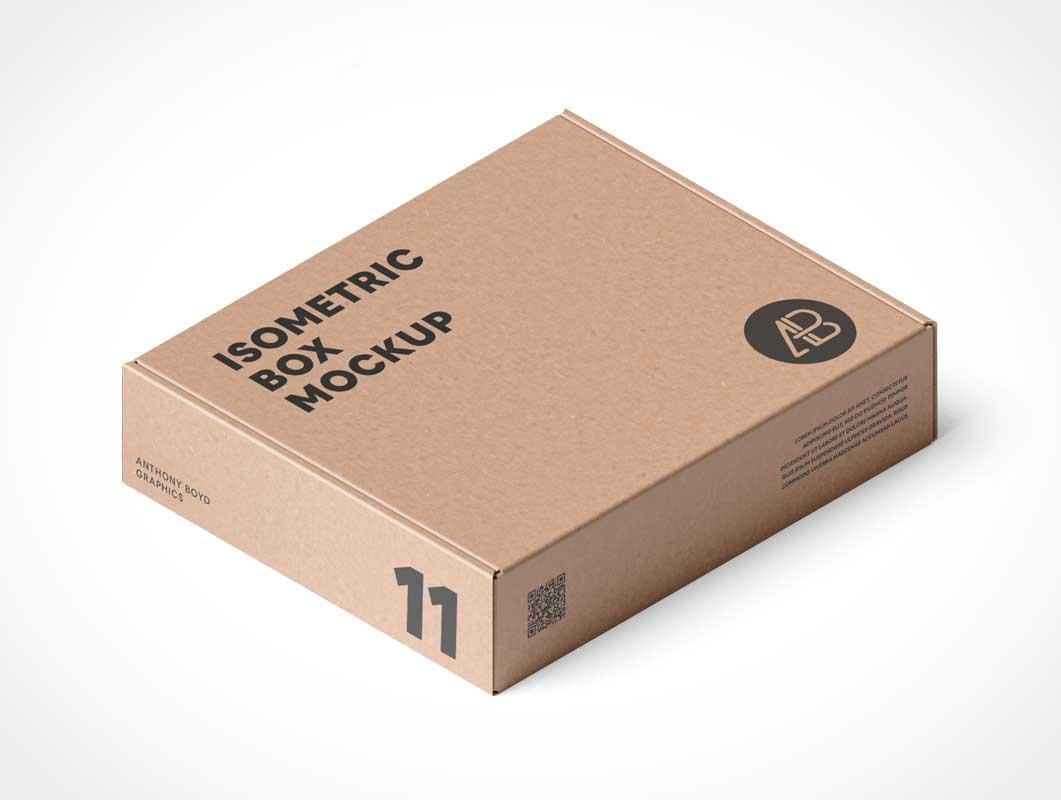 Corrugated Brown Craft Shipping Mailer PSD Mockup