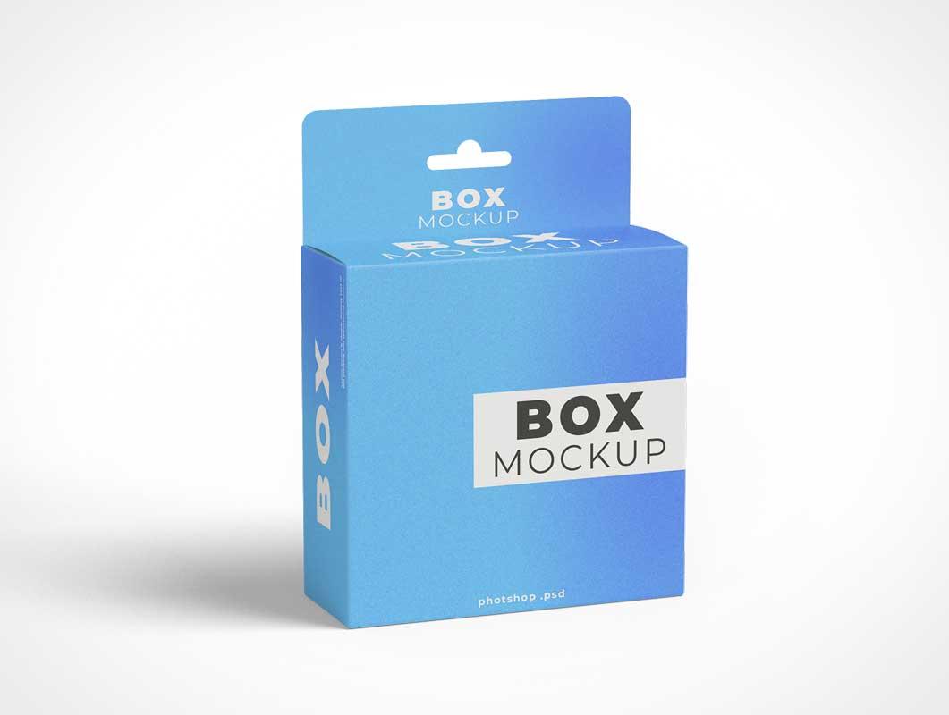 Hang Tab Box PSD Mockup