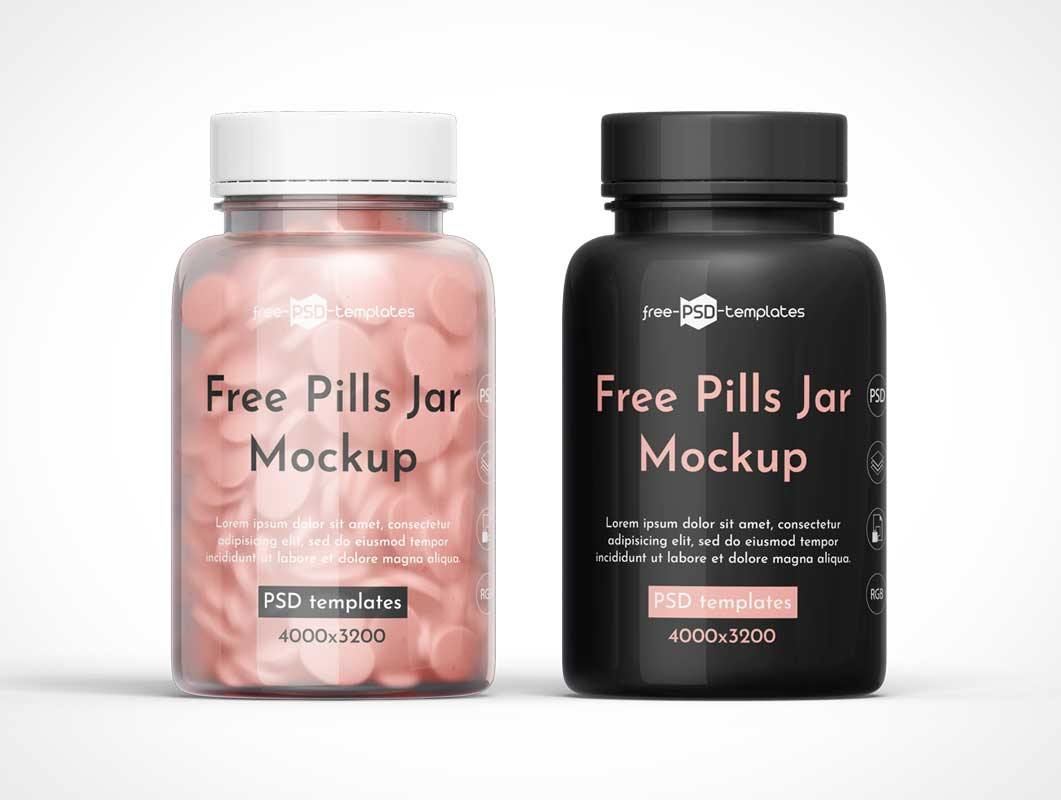 Medical Pills Bottle PSD Mockup