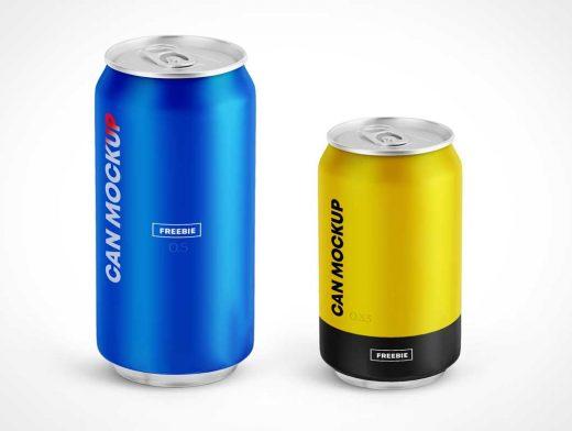 Soda Cans PSD Mockup