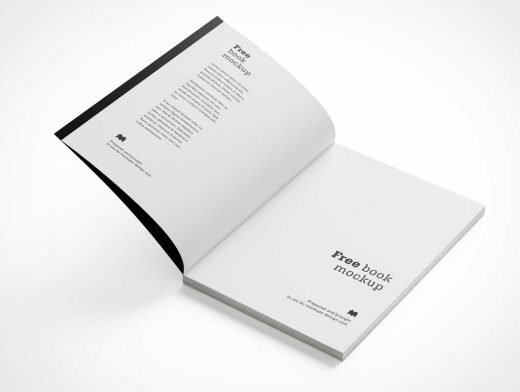 Softcover Book Edition PSD Mockup