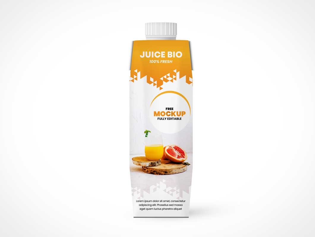 Tetra Pak Box Packaging PSD Mockup